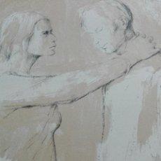 Arte: PRECIOSA LITOGRAFIA TITULADA DUES FIGURES A L'ESPAI - MONSERRAT GUDIOL - EDICION LIMITADA - ART62 -. Lote 51588366
