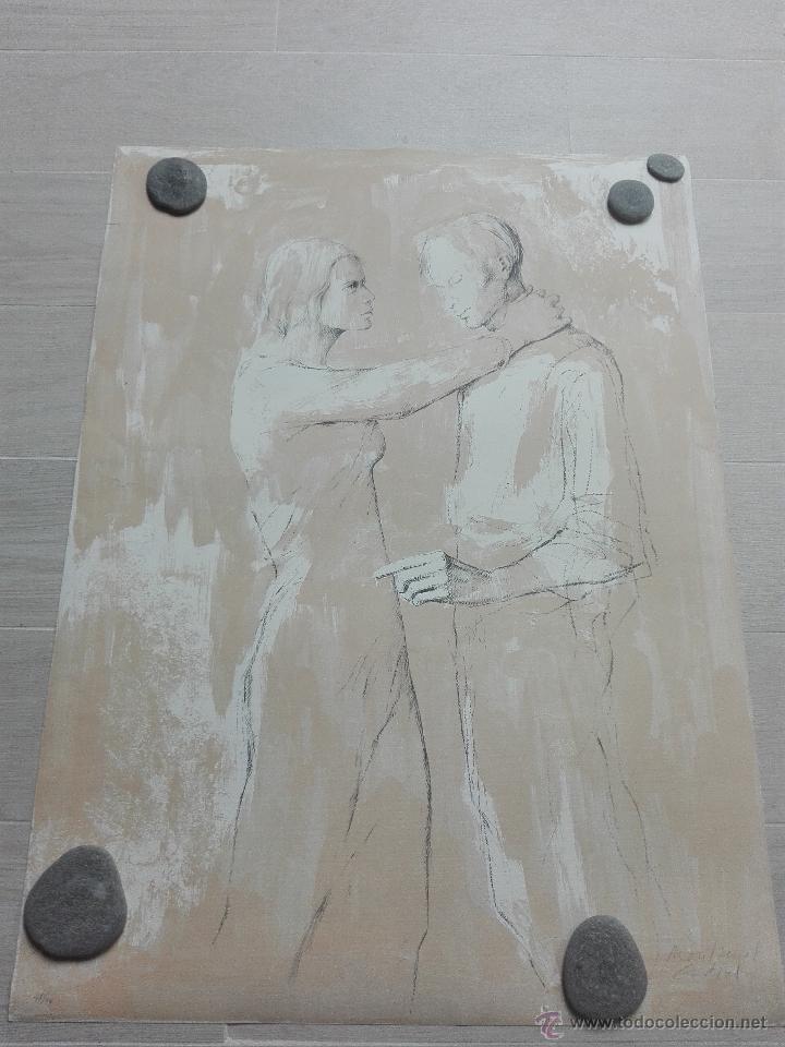 Arte: PRECIOSA LITOGRAFIA TITULADA DUES FIGURES A LESPAI - MONSERRAT GUDIOL - EDICION LIMITADA - ART62 - - Foto 2 - 51588366