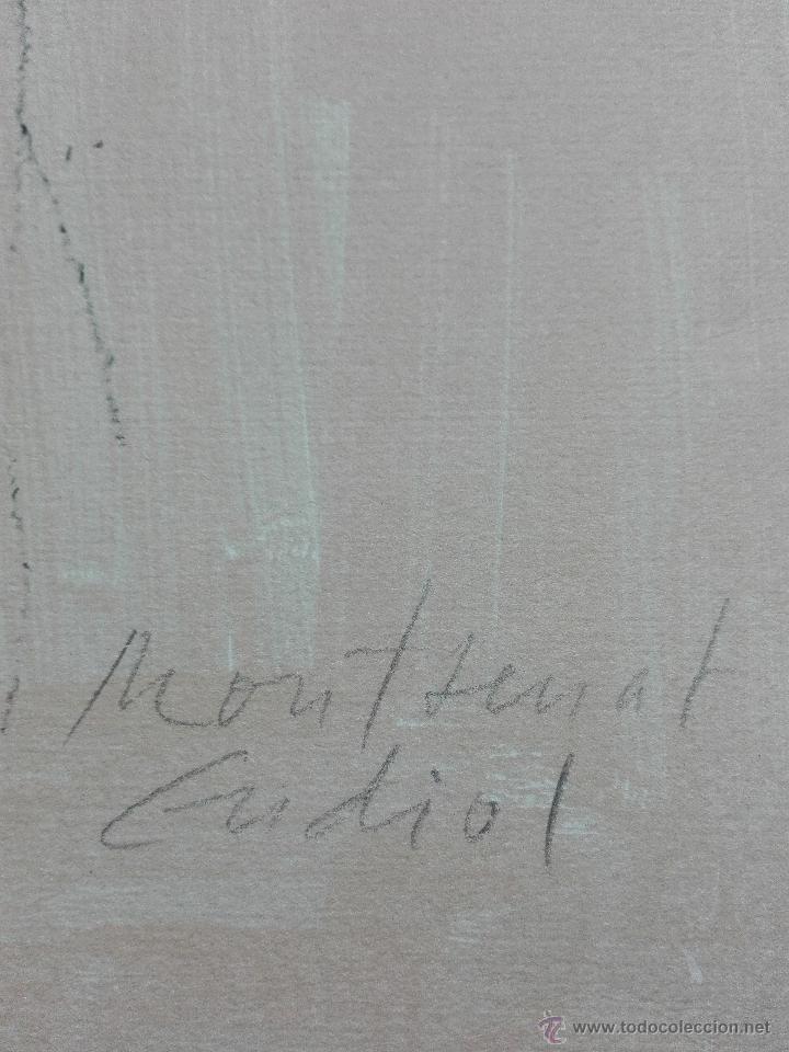 Arte: PRECIOSA LITOGRAFIA TITULADA DUES FIGURES A LESPAI - MONSERRAT GUDIOL - EDICION LIMITADA - ART62 - - Foto 3 - 51588366