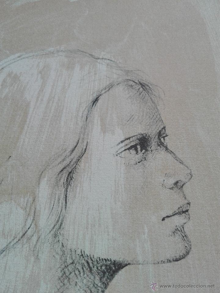 Arte: PRECIOSA LITOGRAFIA TITULADA DUES FIGURES A LESPAI - MONSERRAT GUDIOL - EDICION LIMITADA - ART62 - - Foto 6 - 51588366