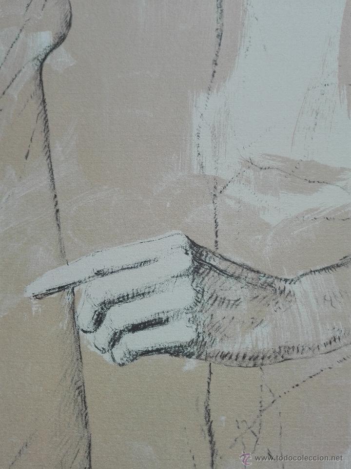 Arte: PRECIOSA LITOGRAFIA TITULADA DUES FIGURES A LESPAI - MONSERRAT GUDIOL - EDICION LIMITADA - ART62 - - Foto 9 - 51588366