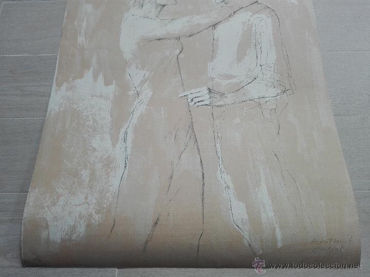 Arte: PRECIOSA LITOGRAFIA TITULADA DUES FIGURES A LESPAI - MONSERRAT GUDIOL - EDICION LIMITADA - ART62 - - Foto 10 - 51588366