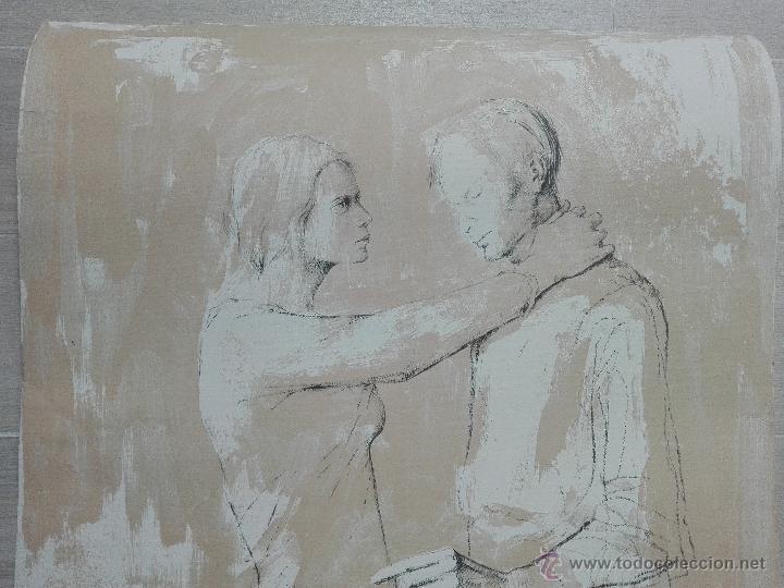 Arte: PRECIOSA LITOGRAFIA TITULADA DUES FIGURES A LESPAI - MONSERRAT GUDIOL - EDICION LIMITADA - ART62 - - Foto 11 - 51588366