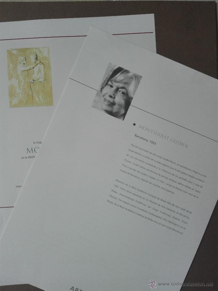 Arte: PRECIOSA LITOGRAFIA TITULADA DUES FIGURES A LESPAI - MONSERRAT GUDIOL - EDICION LIMITADA - ART62 - - Foto 15 - 51588366