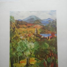 Arte: LITOGRAFIA - MOISES KISLING - MEDITERRANEAN LANDSCAPE - OIL ON CANVAS - MUSEE DES BEAUX ARTS - NANCY. Lote 51632482