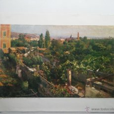 Arte: LITOGRAFIA - F - GIMENO - VALLCARCA - HORTS AMB ARBUST - 1898 - OLI SOBRE TELA ORIGINSL 95,5 X 59,5 . Lote 51632716