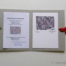 Arte: MINIATURA LITOGRAFÍA - CAJILLO DE COCA COLA. AUTOR: MIGUEL ALFARO. Lote 200338321