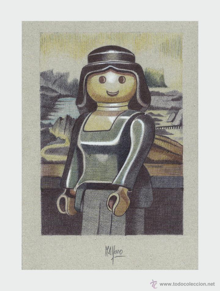 Arte: Carpeta con 3 láminas (tipo litografía). - Clicks en el Arte -. Autor: M. Alfaro - Foto 2 - 180328891