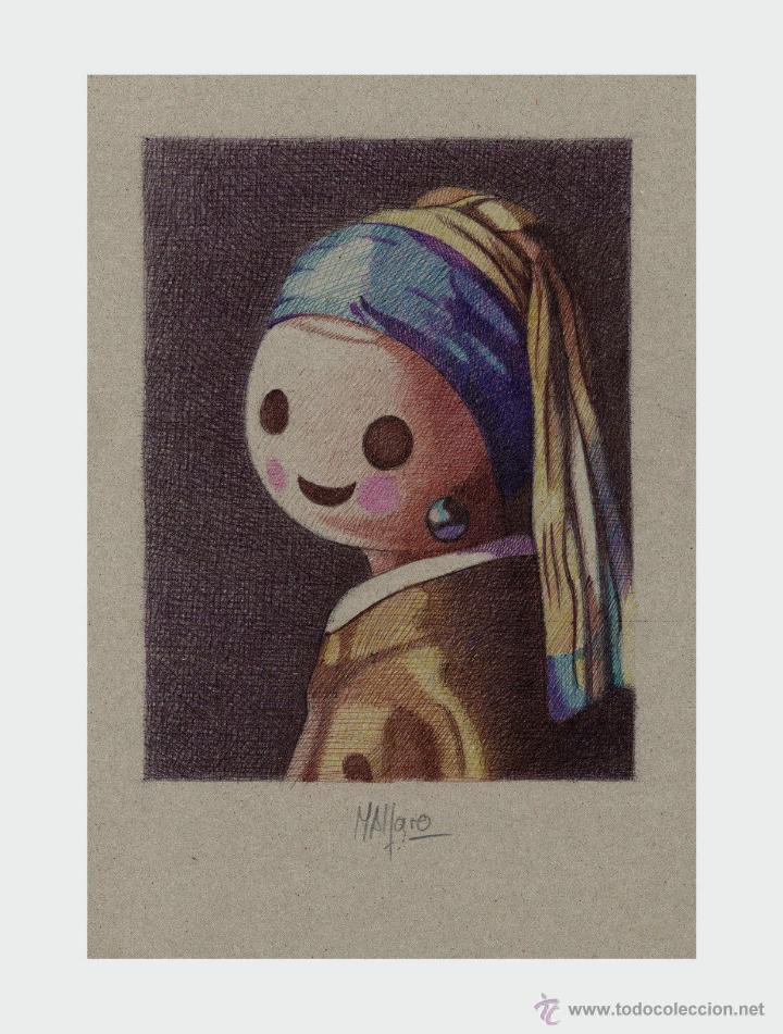 Arte: Carpeta con 3 láminas (tipo litografía). - Clicks en el Arte -. Autor: M. Alfaro - Foto 3 - 180328891