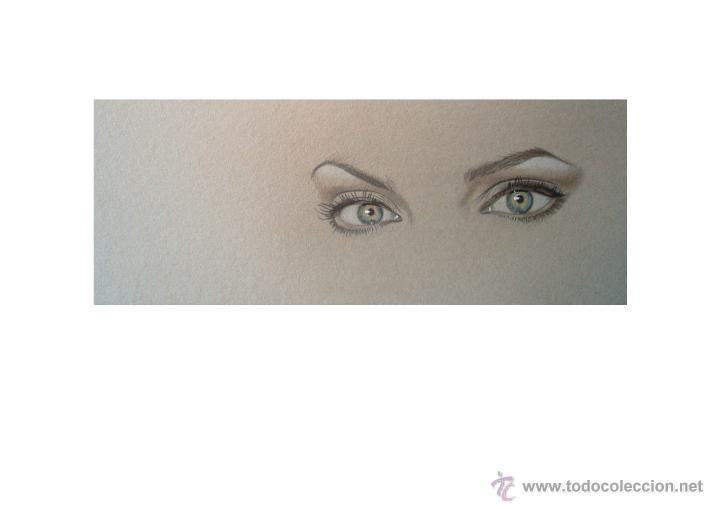 Arte: Carpeta con 3 grabados (tipo Litografía). -MIRADAS-. Autor: M. Alfaro - Foto 2 - 152724137
