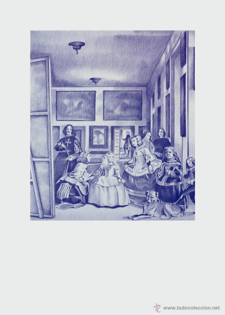 CARPETA CON 2 LÁMINAS (TIPO LITOGRAFÍA). -MENINAS. AUTOR: MIGUEL ALFARO (Arte - Litografías)