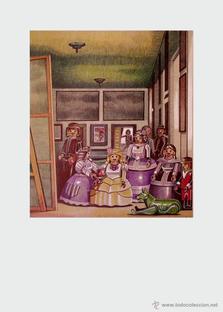 Arte: Carpeta con 2 láminas (tipo litografía). -MENINAS. Autor: Miguel Alfaro - Foto 2 - 189671490