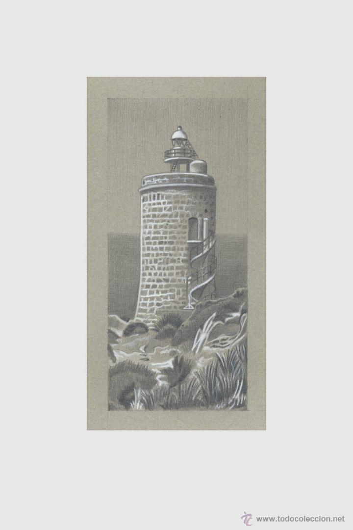 Arte: Carpeta con 5 grabados (tipo Litografía). -FAROS del MUNDO-. Autor: Miguel Angel Alfaro Rey - Foto 2 - 134420242
