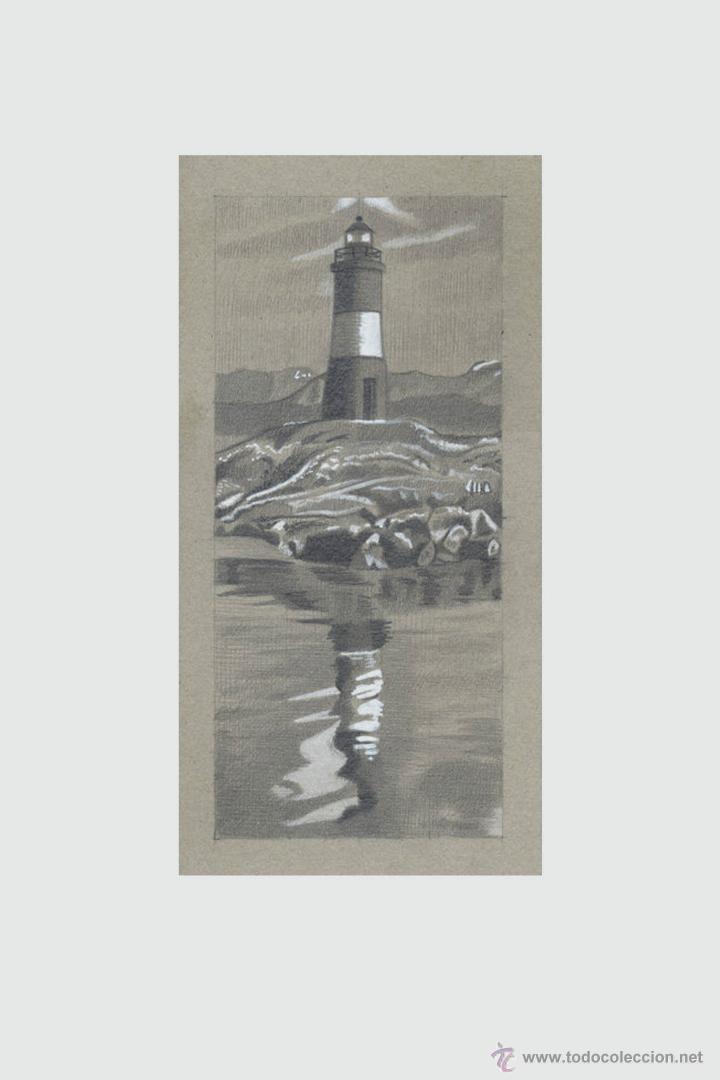 Arte: Carpeta con 5 grabados (tipo Litografía). -FAROS del MUNDO-. Autor: Miguel Angel Alfaro Rey - Foto 3 - 134420242