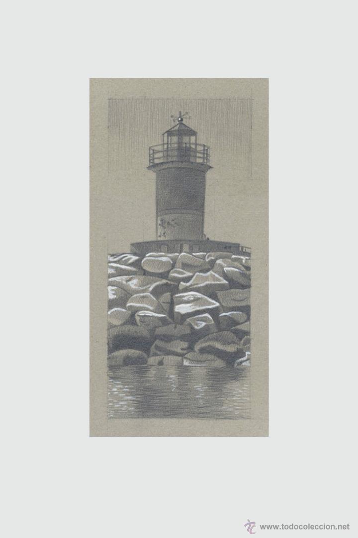 Arte: Carpeta con 5 grabados (tipo Litografía). -FAROS del MUNDO-. Autor: Miguel Angel Alfaro Rey - Foto 4 - 134420242
