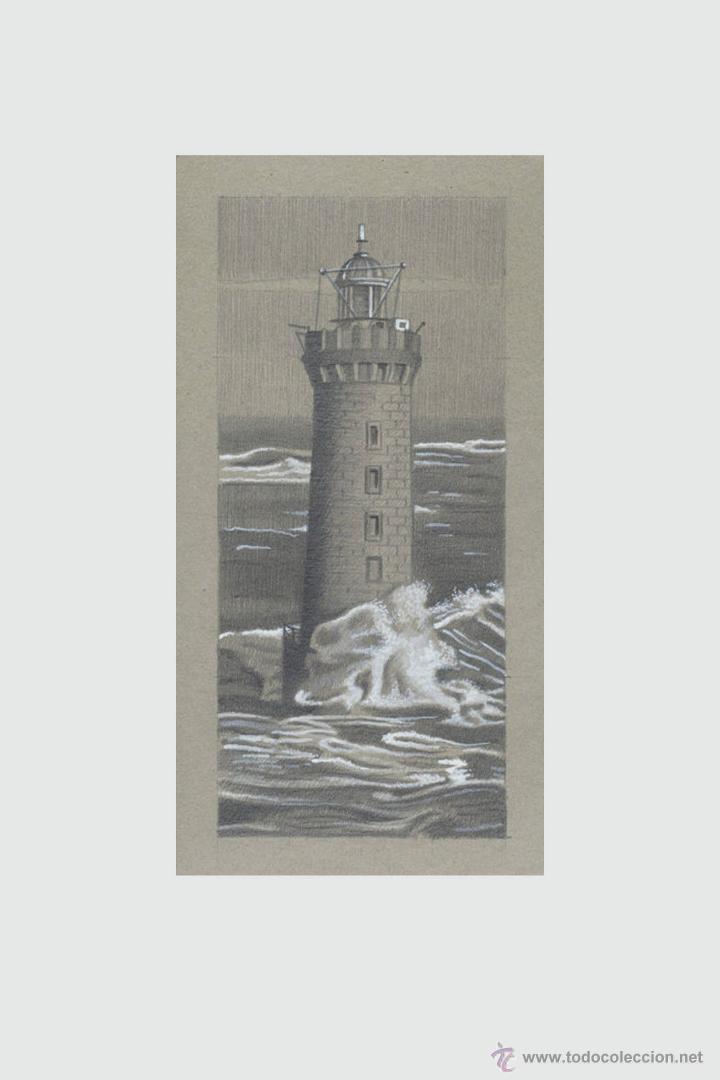 Arte: Carpeta con 5 grabados (tipo Litografía). -FAROS del MUNDO-. Autor: Miguel Angel Alfaro Rey - Foto 5 - 134420242