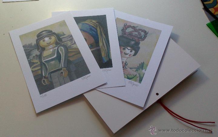 Arte: Carpeta con 3 láminas (tipo litografía). - Clicks en el Arte -. Autor: M. Alfaro - Foto 4 - 180328891