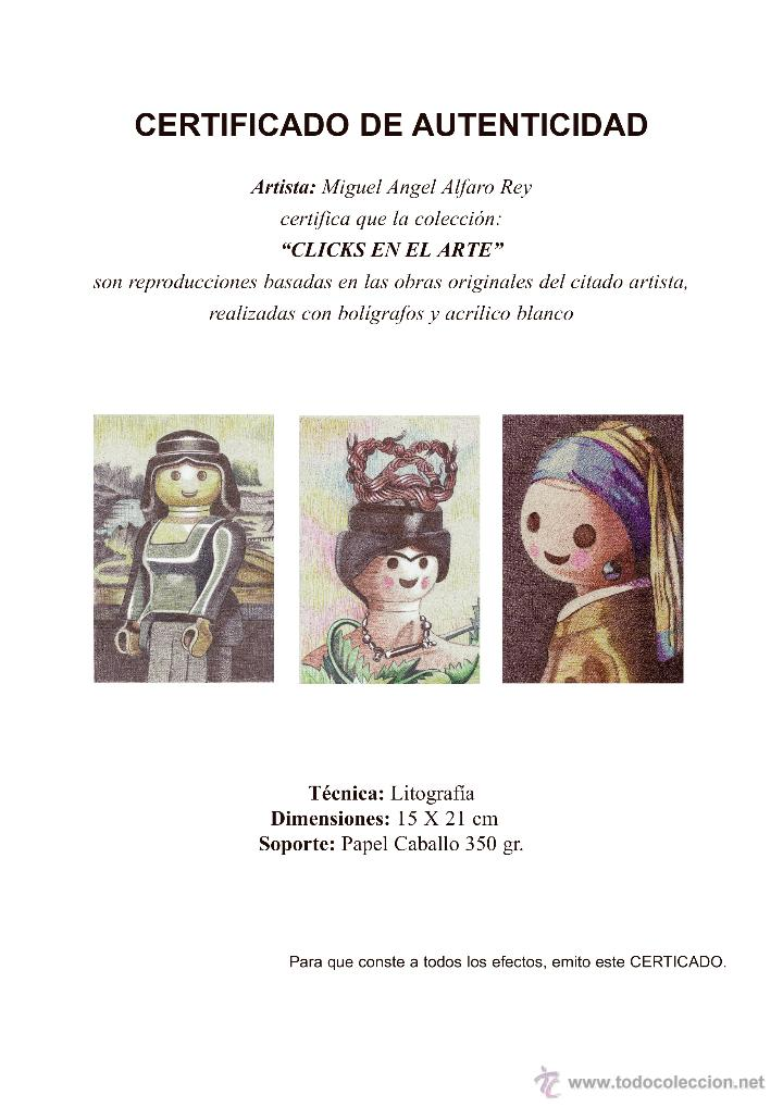 Arte: Carpeta con 3 láminas (tipo litografía). - Clicks en el Arte -. Autor: M. Alfaro - Foto 5 - 180328891