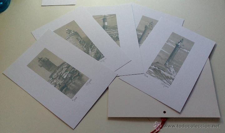 Arte: Carpeta con 5 grabados (tipo Litografía). -FAROS del MUNDO-. Autor: Miguel Angel Alfaro Rey - Foto 6 - 134420242