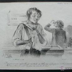 Arte: CROQUIS D'EXPRESSIONS Nº 77. JULES PLATIER. C. 1840.. Lote 52499381