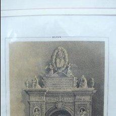 Arte: BELPUIG. PANTEON DE DN. RAMON DE CARDONA. F.J. PARCERISA Y J. DONON. S.XIX. . Lote 52510871
