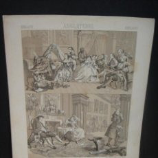 Arte: REUNIONES INGLESAS - LITOGRAFIA DE FIRMIN DIDOT - DIBUJADO ST, ELME GAUTIER - AÑO 1880 APROX.. Lote 52570969