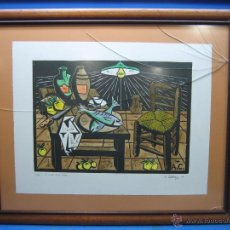 Arte: LA COCINA DE MI ABUELA . FIRMADO A. CONTRERAS 97. 6/25 MARCO 81X68 CM. DIBUJO 61X48. SE VENDE SIN CR. Lote 52580056