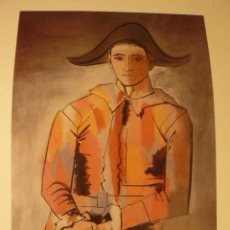 Arte: LITOGRAFIA DE PABLO PICASSO ARLEQUIN MAESTRI DE LA PEINTURS Nº 613. Lote 52591860