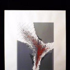 Arte: LITOGRAFÍA 21-100 ABSTRACION LIRICA GEOMETRICA. FIRMA ILEGIBLE. 60X50 CM. AÑOS 70. Lote 53051566