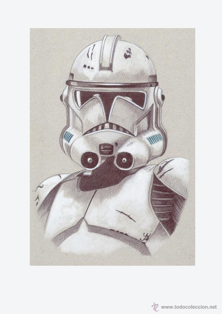 Arte: Carpeta con 4 láminas (tipo litografía). -STAR WARS-. Autor: Miguel Angel Alfaro - Foto 2 - 135188341