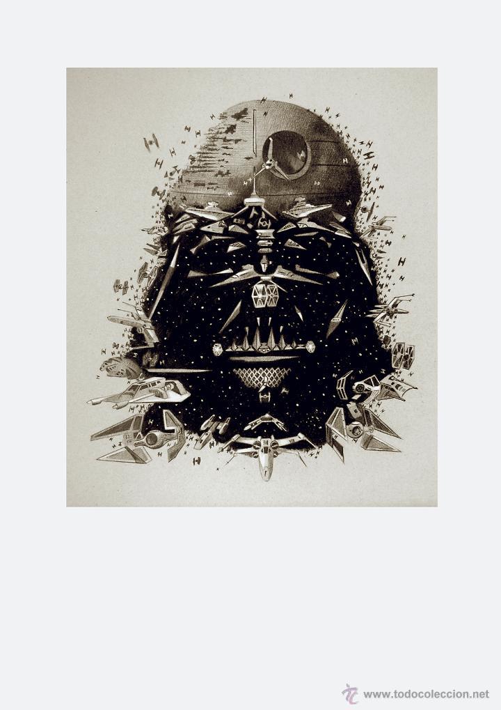 Arte: Carpeta con 4 láminas (tipo litografía). -STAR WARS-. Autor: Miguel Angel Alfaro - Foto 4 - 135188341