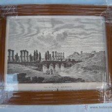 Arte: CUADRO LITOGRAFÍA VISTA DEL PUENTEDE ALBAREGAS. Lote 53192653