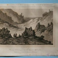 Arte: 1850 - GRABADO - ISLA DE LA ASCENSION - VOLCANES - GRAVURE - ENGRAVING - 215X125MM. Lote 53197377