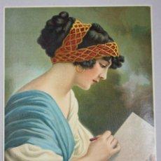 Arte: LITOGRAFIA CON ESCENA ROMANTICA. CIRCA 1910. Lote 53221577