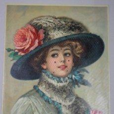 Arte: LITOGRAFIA CON ESCENA ROMANTICA. IMPRESA EN ALEMANIA. CIRCA 1910. Lote 53221928