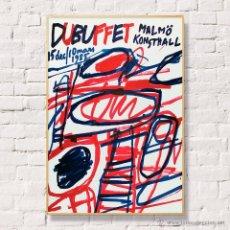 Arte: DUBUFFET. CARTEL EXPOSICIÓN 1985.. Lote 53351187