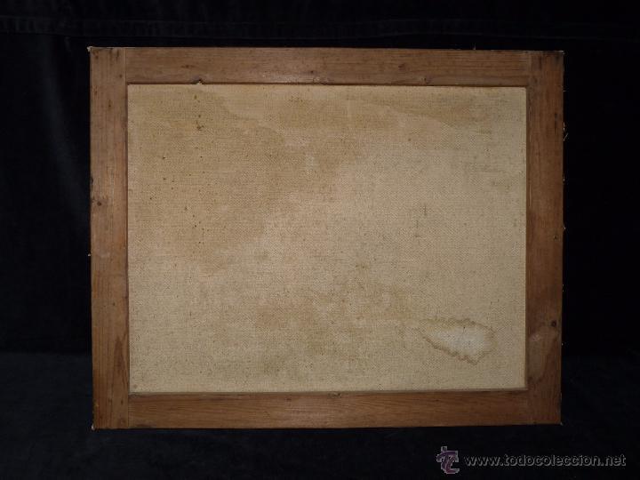 Arte: EXPOSICIÓN INTERNACIONAL DE BARCELONA 1929. LITOGRAFIA SOBRE LIENZO. ENMARCADO 60x50 cm - Foto 5 - 53407256
