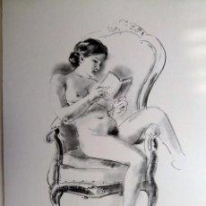 Arte: LITOGRAFIA DE GENARO LA HUERTA. Lote 53449390