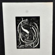 Arte: J. TROWSKY. LITOGRAFIA FIRMADA, FECHADA DEL 1974. TITULADA PISCIS. TIRAJE 3/7. Lote 53525579