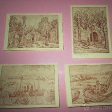 Arte: LOTE 4 LITOGRAFÍAS-FORMATO POSTAL-JOSÉ SEIJO RUBIO-(PINTOR GALLEGO)-SOBRES-VER FOTOS.. Lote 53952288