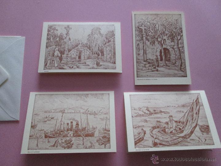 Arte: LOTE 4 LITOGRAFÍAS-FORMATO POSTAL-JOSÉ SEIJO RUBIO-(PINTOR GALLEGO)-SOBRES-VER FOTOS. - Foto 3 - 53952288