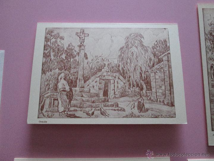 Arte: LOTE 4 LITOGRAFÍAS-FORMATO POSTAL-JOSÉ SEIJO RUBIO-(PINTOR GALLEGO)-SOBRES-VER FOTOS. - Foto 12 - 53952288
