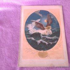 Arte: 2 GRABADOS MODERNISTAS, J. SIMON B, 1903, 25X20, LA GAVIOTA, LA HADA DE COLON. Lote 54022941