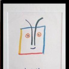 Arte: GRAN LITOGRAFIA DE PICASSO GUERRERO DIOMEDES ENMARCADA Y DE EDICION LIMITADA. Lote 162676598