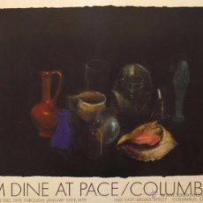 Arte: CARTEL DE EXPOSICIÓN LITOGRÁFICA/COLUMBUS, OHIO, USA, JIM DINE/COLÓN 1978. Lote 54284327