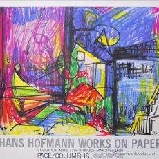 Arte: HANS HOFMANN - CARTEL DE EXPOSICIÓN LITOGRÁFICA/COLUMBUS, OHIO, USA,. Lote 54284769