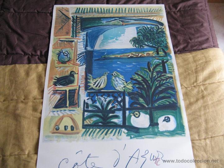 GRAN LITOGRAFIA DE PABLO PICASSO CÔTE D´AZUR 1962 HENRI DESCHAMPS (Arte - Litografías)