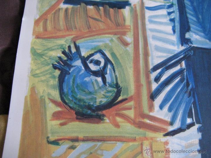 Arte: GRAN LITOGRAFIA DE PABLO PICASSO Côte d´azur 1962 henri deschamps - Foto 5 - 54422721