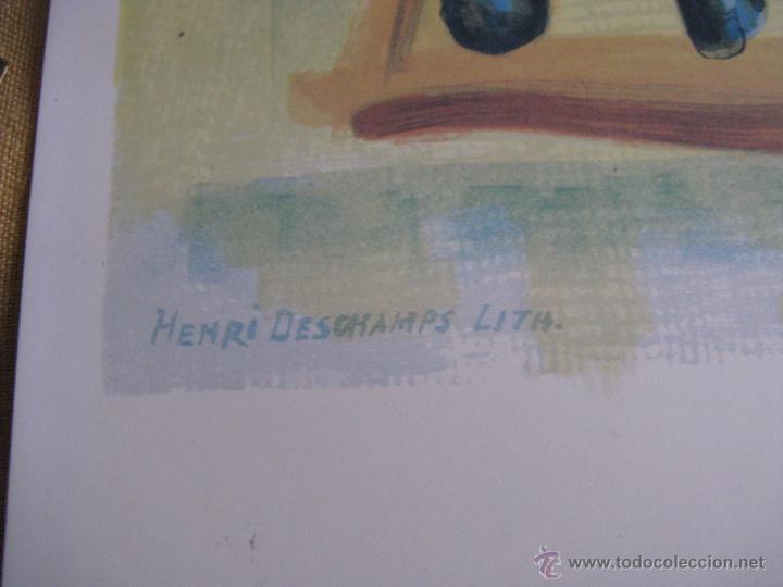 Arte: GRAN LITOGRAFIA DE PABLO PICASSO Côte d´azur 1962 henri deschamps - Foto 7 - 54422721