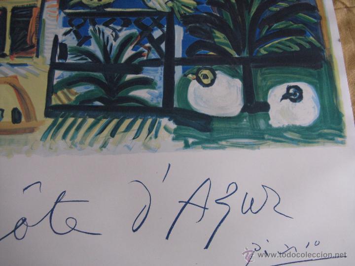 Arte: GRAN LITOGRAFIA DE PABLO PICASSO Côte d´azur 1962 henri deschamps - Foto 8 - 54422721